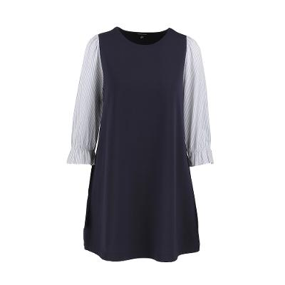 shirts sleeve one-piece navy